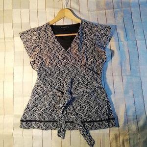 Banana Republic wrap blouse size S
